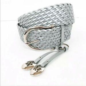 Michael Kors silver belt w/ charms & large buckle